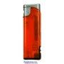 20560-oranžový/strieborný vrch zapaľovač plniteľný so svetlom U-