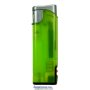 20562-neónový zelený/strieborný vrch zapaľovač plniteľný so svet