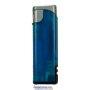 20564-modrý/strieborný vrch zapaľovač plniteľný so svetlom U-102