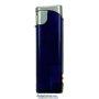20566-fialový/strieborný vrch zapaľovač plniteľný so svetlom U-1