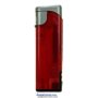 20568-červený/strieborný vrch zapaľovač plniteľný so svetlom U-1