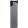 20603-metalický strieborný/strieborný vrch zapaľovač plniteľný U