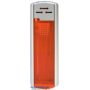 58000-oranžový/strieborný vrch zapaľovač plniteľný, posuvný U-62