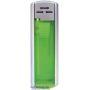 58002-neónová zelená//strieborný vrch zapaľovač plniteľný, posuv